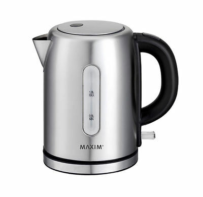 Maxim Kettle 1L Mini/Small/Compact Stainless Steel/Cordless/Docking Station