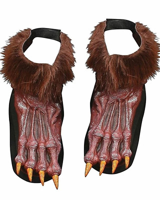 Brown Werewolf Shoe Covers One Size