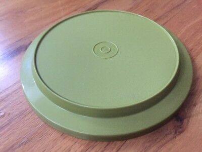 Replacement LID Only: Vintage TUPPERWARE Seal N Serve #1207 - 26 Olive GREEN