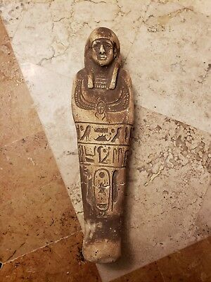 Ancient Egyptian Hieroglyphic Shabti, Late Period 664-332 B.C. GOOD DETAIL