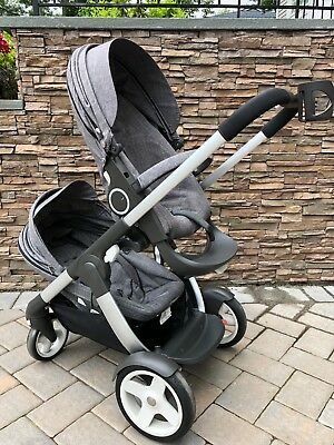 Stokke Crusi Double Stroller with Sibling Seat