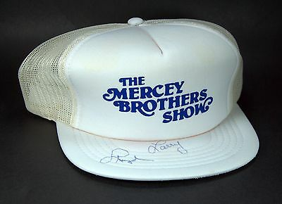 Vintage Mercey Brothers Snap-back Trucker Cap Autographed Canada Country Music