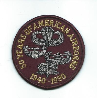 50 YEARS OF AMERICAN AIRBORNE 1940-1990 Patch US Military Paratrooper Marines