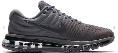 976ad3e2ee NIB NIKE AIR MAX 2017 MEN'S RUNNING SHOE 849559 008 Cool Grey/Anthracite  ALL SZ