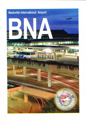 BNA Collectible Airport Trading Card Nashville International Tennessee