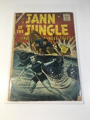Jann of the JUNGLE. #14. from 1956.!! with Cliff Mason & other Jungle Tales.