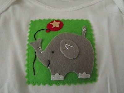 Best of Chums White Short Sleeve Top w/Elephant & Balloon Size 12 mo NWOT