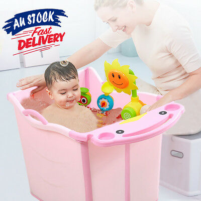 Large Thickening Foldable Bubble Bathtub Baby Toddlers Kids Water Chest