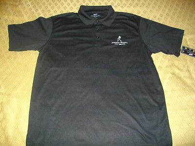 Brand New Black Johnnie Walker Polo Shirt Size Large, With Tag