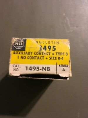 Allen Bradley 1495-N8 Auxiliary Contact Switch Ser A