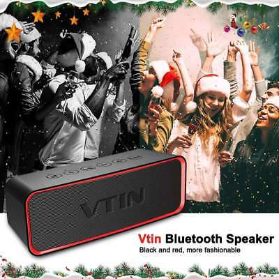 VTIN FM Portable Bluetooth Speaker Wireless Stereo Super Bass Sound Subwoofer