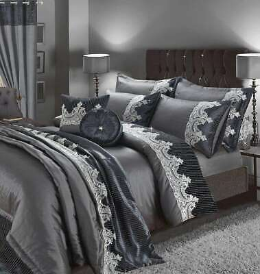 LUXURY NEW EMBROIDERY Duvet Set,Curtains, Pillow, Throws and