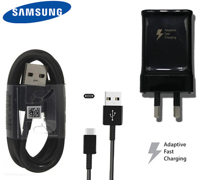 Genuine SAMSUNG Galaxy FAST Wall Charger &Type C Cable For S9 S8 Plus Note 9 8 7