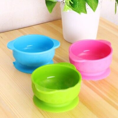 1PC Silicone Mat Baby Kids Feeding Suction Table Food Tray Placemat Plate Bowl W