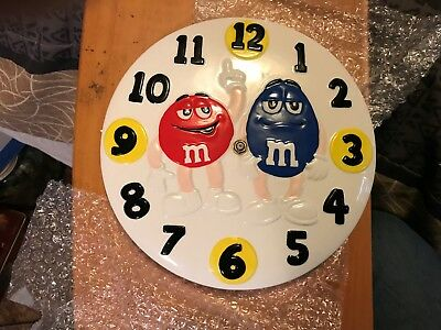 M&m's Collectible Ceramic Character Wall Clock