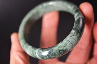 Excellent Chinese natural jade Carved 61mm beautiful bracelet bangle   G24