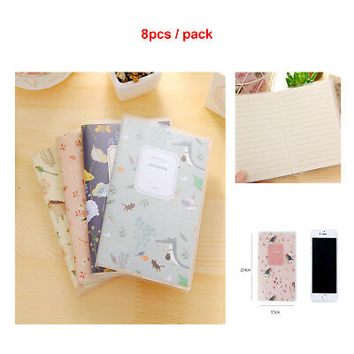 8pcs Diary Memo Notebook Cute Mini Smile Smile Paper Note Book Stationery Gift