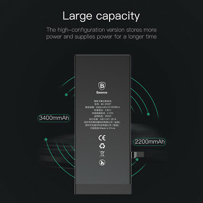 Baseus High Replacement Internal Li-Ion Battery for iPhone 6 6s Plus+Tools Kits