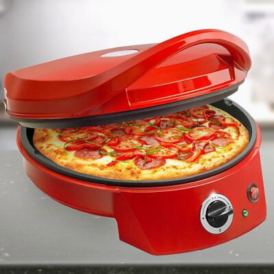 Pizza Oven Ø 27cm Table Grill 2 surfaces to warm up cook anti-stick coating