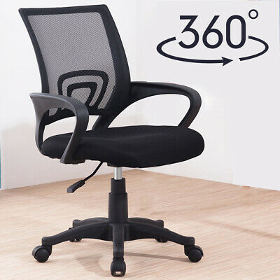 Office Mesh Chair Adjustable Height Ergonomic 360°Swivel Computer Desk Chair New