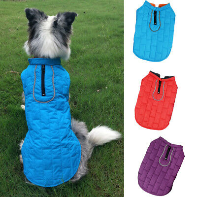 Waterproof Warm Winter Dog Coats Reflective Clothes Pet Puppy Medium Large