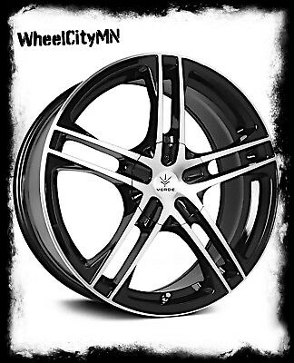 17 Inch Gloss Black Verde V36 Protocol Rims Fits Ford Focus Fusion