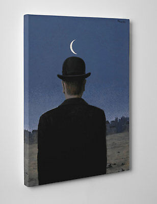 Painting Magritte the master of school Print on canvas cm 50x70 Paint Brushwork