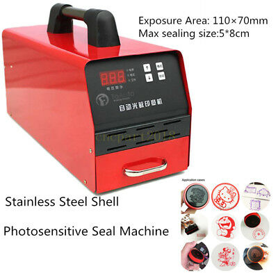 Flash Stamp Seal Maker Automatic Photosensitive Seal Machine Pattern Embossing