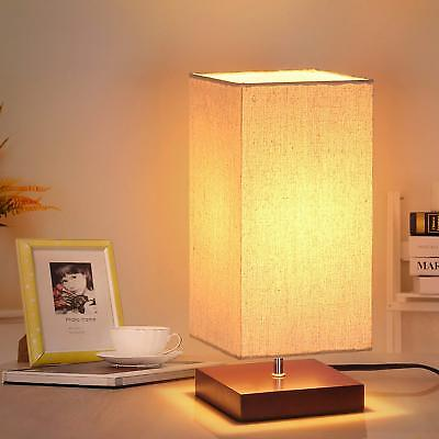 Bedside Table Lamp, Minimalist Solid Wood Nightstand Lamp, Simple Desk Lamp Room