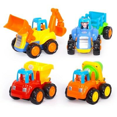 Happy Engineering Vehicle Cartoon Friction Powered Push Go Vehicles Toddlers