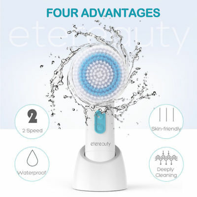 ETEREAUTY 5 in 1 Electric Facial Cleansing Brush Skin Face Body Care Cleanser AU