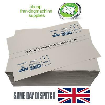 100 Multi-use Franking Labels - DOUBLES for Neopost, Pitney Bowes, FP, Frama