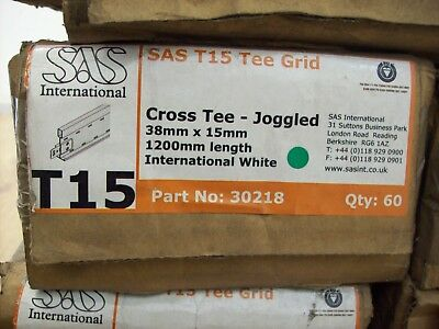 T15 Suspended Ceiling Cross Tee - Joggled - £24.95 a box