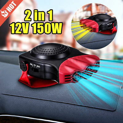 150W 12V CERAMIC CAR HEATER HOT demister 12v dash defroster de ice 2in1 screen