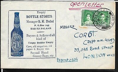 Kenya 1937 Advertising Bottle Stores Cover