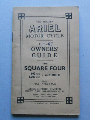 Ariel Square Four 600-1000 1939-47 manuale uso moto originale owner's manual