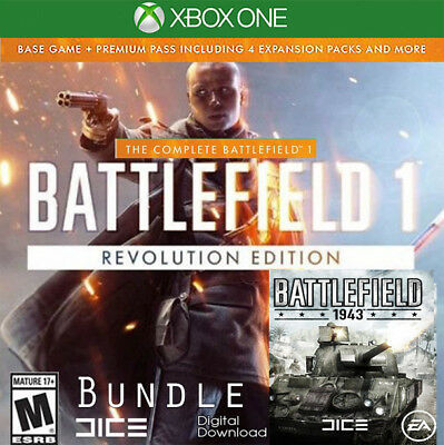 Battlefield 1 Revolution Edition Xbox One + BF 1943 Key Code (NO CD/DVD) Global