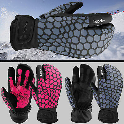 Winter Snow Ski Gloves Touch Screen Warm Thermal Waterproof Mittens Men Women