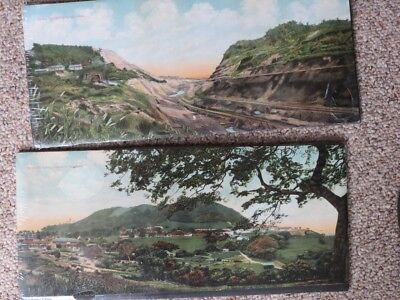 Pair of Large Antique Hand Tinted Photos of Panama Canal Early 1900's