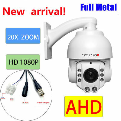 CCTV Security AHD 1080P Auto Tracking IR PTZ Camera High Speed Pan Tilt 20X ZOOM