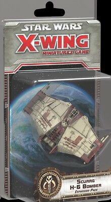 Star wars x-wing miniatures scurrg h-6 bomber expansion pack fantasy flight game