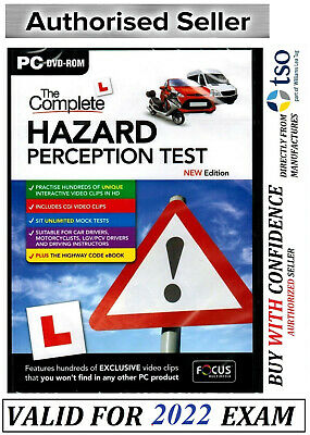 The Complete Hazard Perception Test For PC (DVD-ROM) NEW & SEALED 2019*FcHzrd