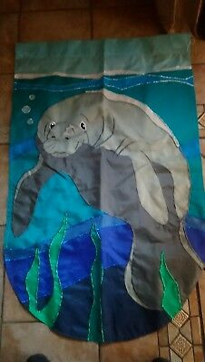 Manatee Applique picture print wall hangings decor