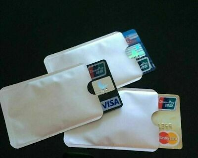 5/10/20 Pks Safety Sleeves RFID Protectors Credit Card Identity Theft Protection