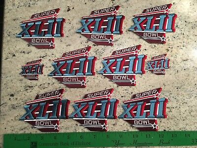 10 New vtg Super Bowl Patches lot patch NFL jersey XLII Patriots New York Giants