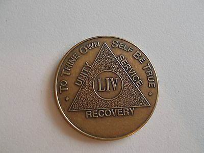 AA Bronze Alcoholics Anonymous 54 year coin medallion