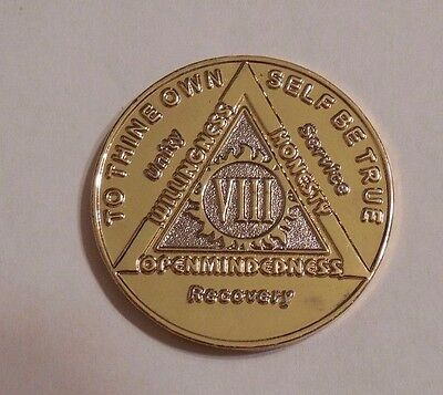 Aa Bi Plate 8 Year New With Flaws Alcoholics Anonymous Coin Medallion Token