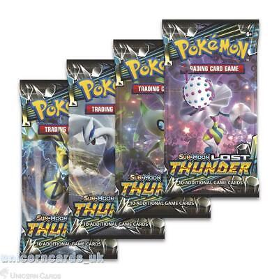 Pokemon TCG: Sun & Moon: Lost Thunder 4 Booster Packs - All 4 Types - Brand New