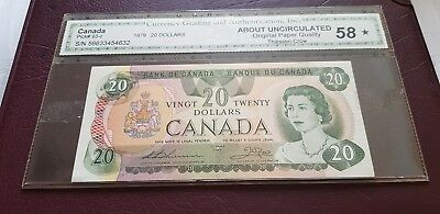 BANK OF CANADA $ 20 BANKNOTE aUNC 1979