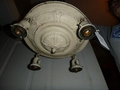 Art Deco 4 Light Hanging Ceiling Light with matching ceiling mount